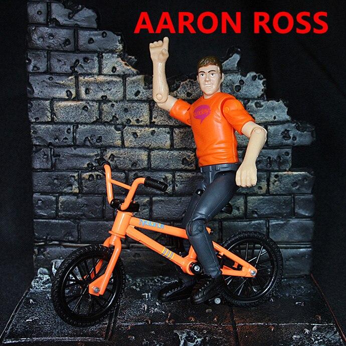 Mini BMX bir küçük bebek modeli ile flick trix parmak bisiklet oyuncaklar AARON BOSS biycle