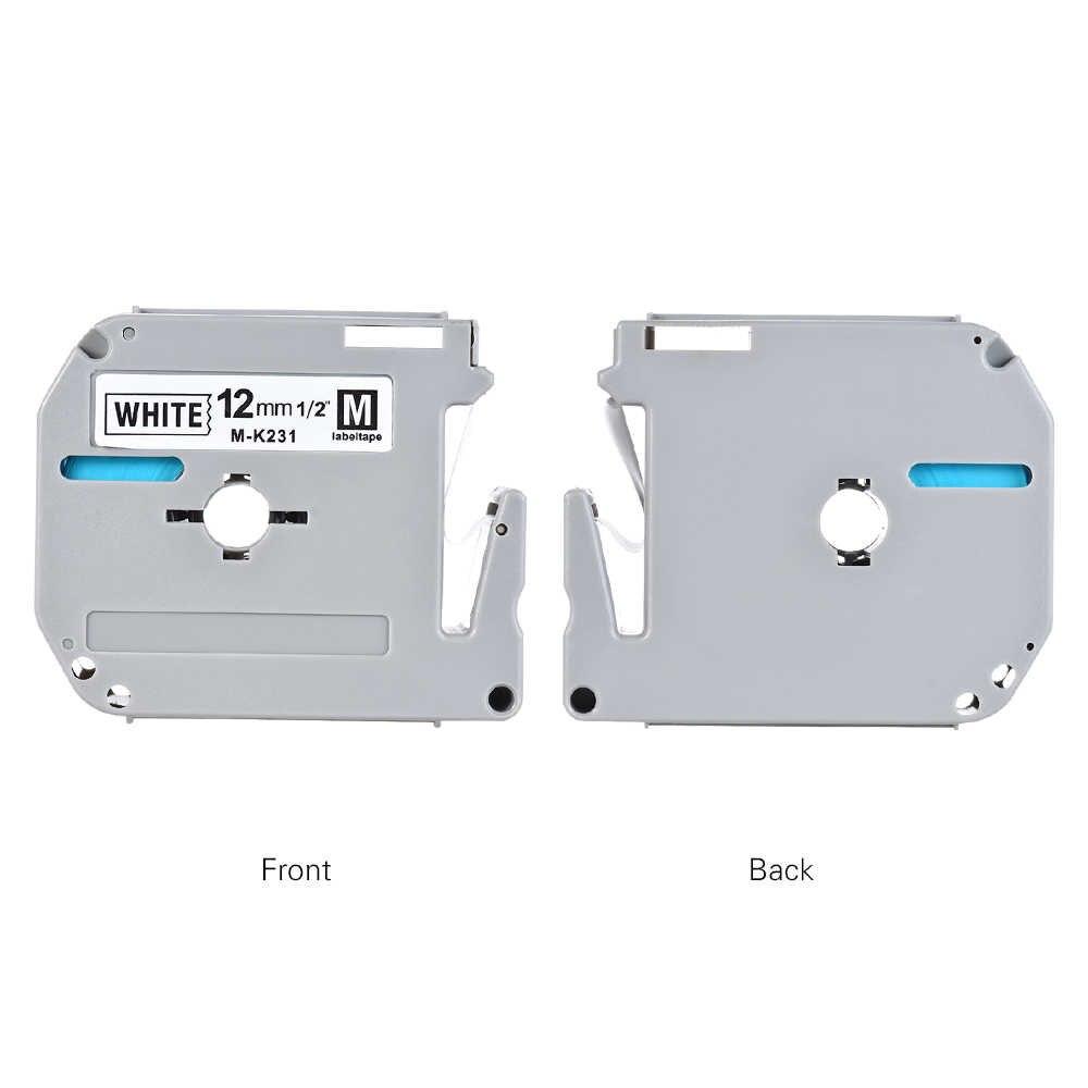 Fitas de impressão Para O Irmão Impressora Impressora Fita Etiqueta Compatível para O Irmão PT-65/PT-70/Impressora de Etiquetas PT80 12mm * 8 m