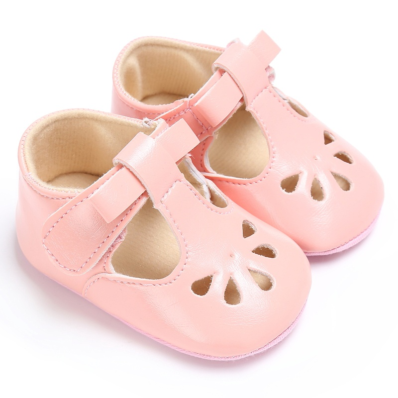 Baby Pink shoes PU Leather Baby Moccasins Soft Soled Baby