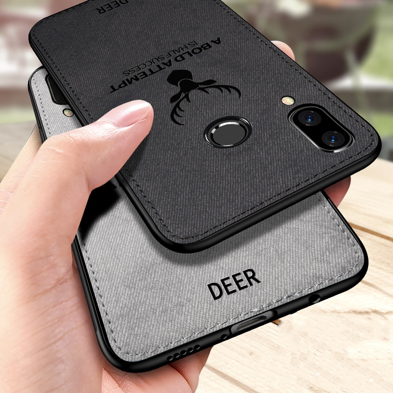 For Samsung M20 Case Luxury Hard Cloth Soft TPU Silicone Frame Fabric Cover Case For Samsung Galaxy M10 M 20 Capa Funda Shells(China)