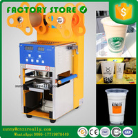 110v 400W automatic cup sealing machine for juice  Fully Automatic Plastic Bubble Tea Sealing Machine Cup Sealer Cup|Food Processors|Home Appliances -
