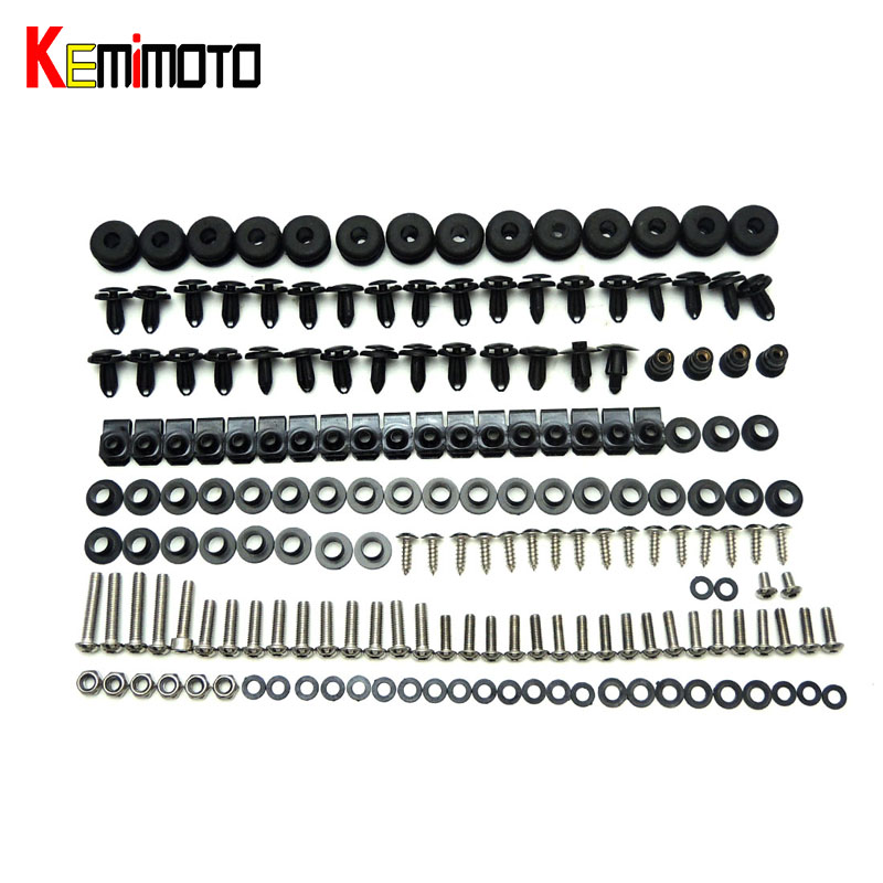 KEMiMOTO R6 Motorcycle Complete Fairing Bolts Kit For Yamaha YZF R6 2008 2009 2010