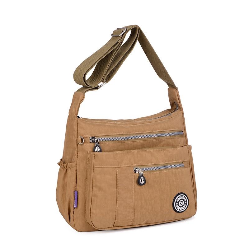 """2018 Naujos moterys """"Messenger"""" maišeliai moterims, atsparios vandeniui, nailono rankinės Moteriškos peties krepšys, moteriškos kūno krepšys"""