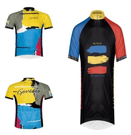 2015 hot sale Primal Genesis Abacab Short Sleeve Jersey and Primal Police  Synchronicity men s summer style 76497b05d