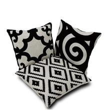 45*45 cm Negro Blanco Suizo Cruz Decorativa Throw Pillow Cojín Funda de Almohada Funda para Sofá Camas almofadas decorativas