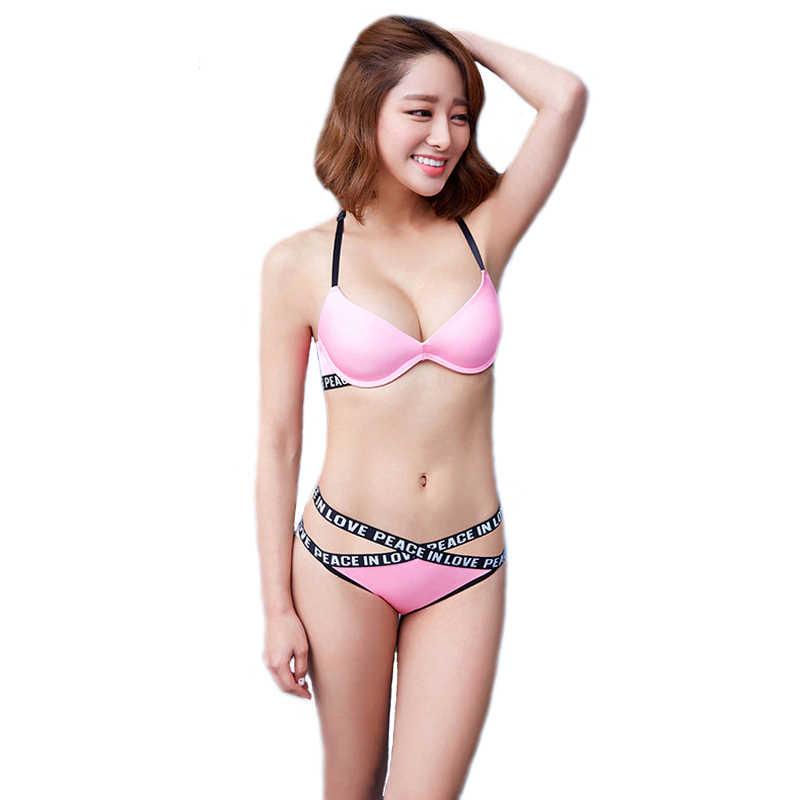 72ccbdef27 MINGMO Sexy Lace Bra   Brief Sets Lingerie Bra Cotton Front Closure Women  Underwear set Y