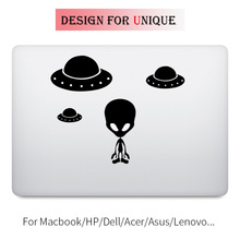 Alien & UFO Laptop Decal Sticker for Apple Macbook Decal Pro Air Retina Touch Bar 11 12 13 15 inch Vinyl Mac Surface Book Skin цена и фото