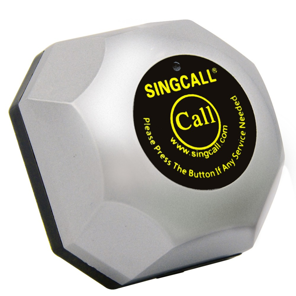 SINGCALL restaurant wireless table bell system food restaurant call 1 waterproof watch and 5 calling pagers