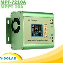MPPT 10A צעד למעלה שמש תשלום בקר LCD תצוגת DC12 60V פנל סולארי עבור 24V 36V 48V 60V 72V סוללה Boost פונקצית תשלום