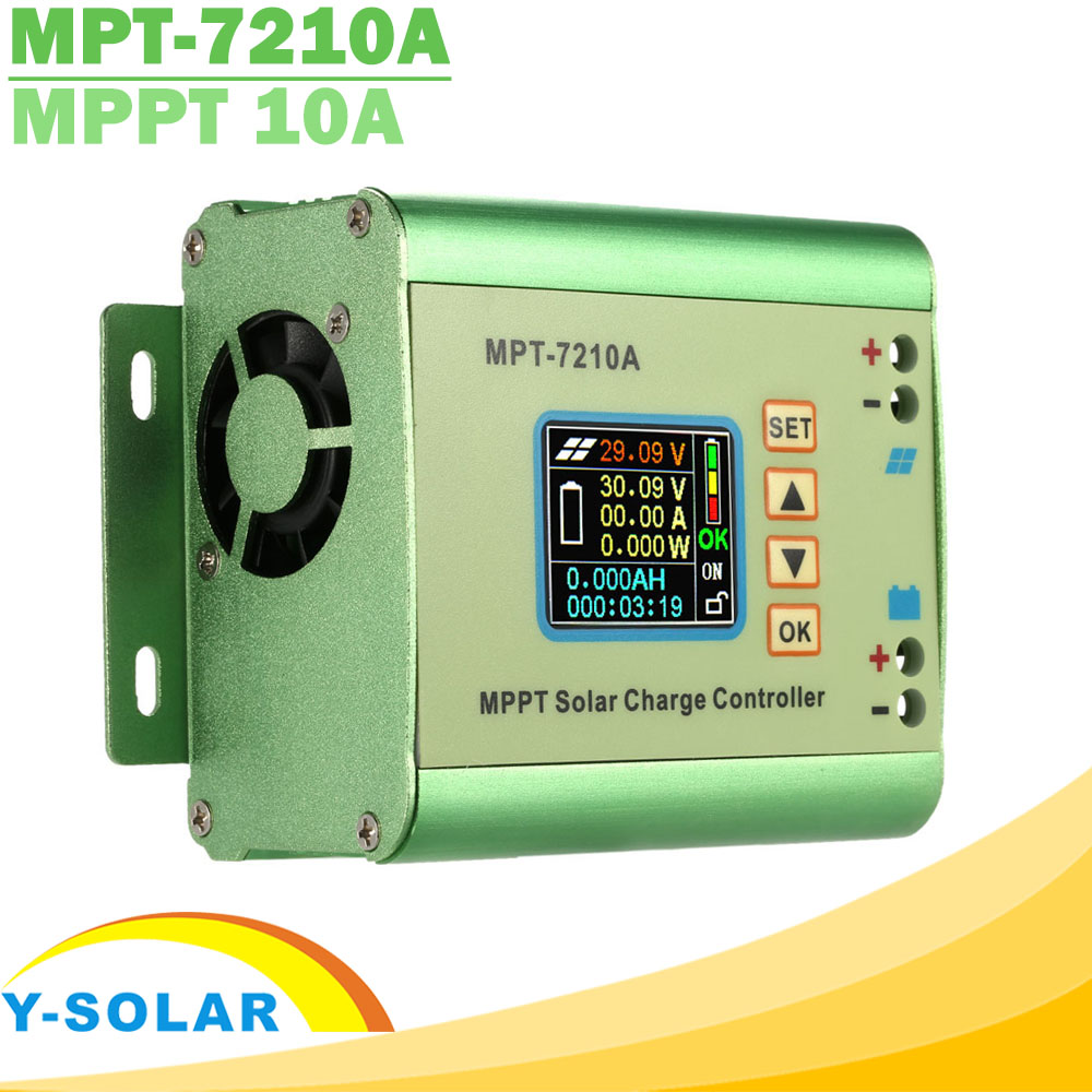 MPPT 10A Step Up Solar Charge Controller LCD Display DC12-60V Solar Panel for 24V 36V 48V 60V 72V Battery Boost Charge Function jamo 60v 72v