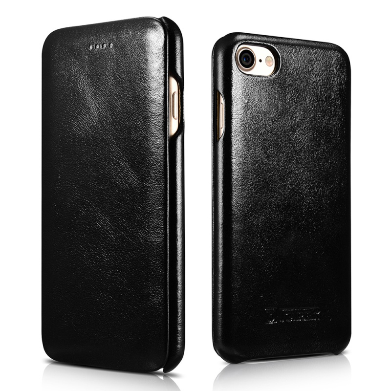 For iPhone 7 4 7 inch Leather Cases ICARER Curved Edge Vintage Series Genuine Leather Case