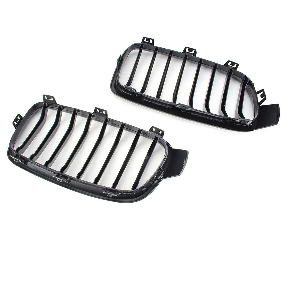 Grilles de calandre centrale de voiture ABS noir pour BMW F30 F31 3 Series 2012 2013 2014 2015 2016 accessoires Auto 4 portes en plastique ABS