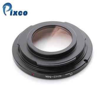 Pixco For M42-Nikon Focus Infinity Lens Adapter Suit For M42 Mount Lens to Suit for Nikon Camera Glass camera lens adapter with optical glass infinity focus f minolta md mc mount lens to nikon dslr d750 d610 d5600 d7000 d7200 d800