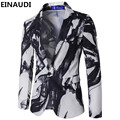 Einaudi masculina de europa y los estados unidos estilo traje de chaqueta de un solo botón de la chaqueta para hombre pintura de tinta vintage trajes vestido