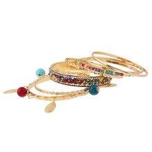 Fashion Gold-color Crystal Boho Ethnic Multilayer Bracelet Statement Bracelet&Bangle Letter Cuff Women Jewelry Gift Pulseras N35 цена 2017