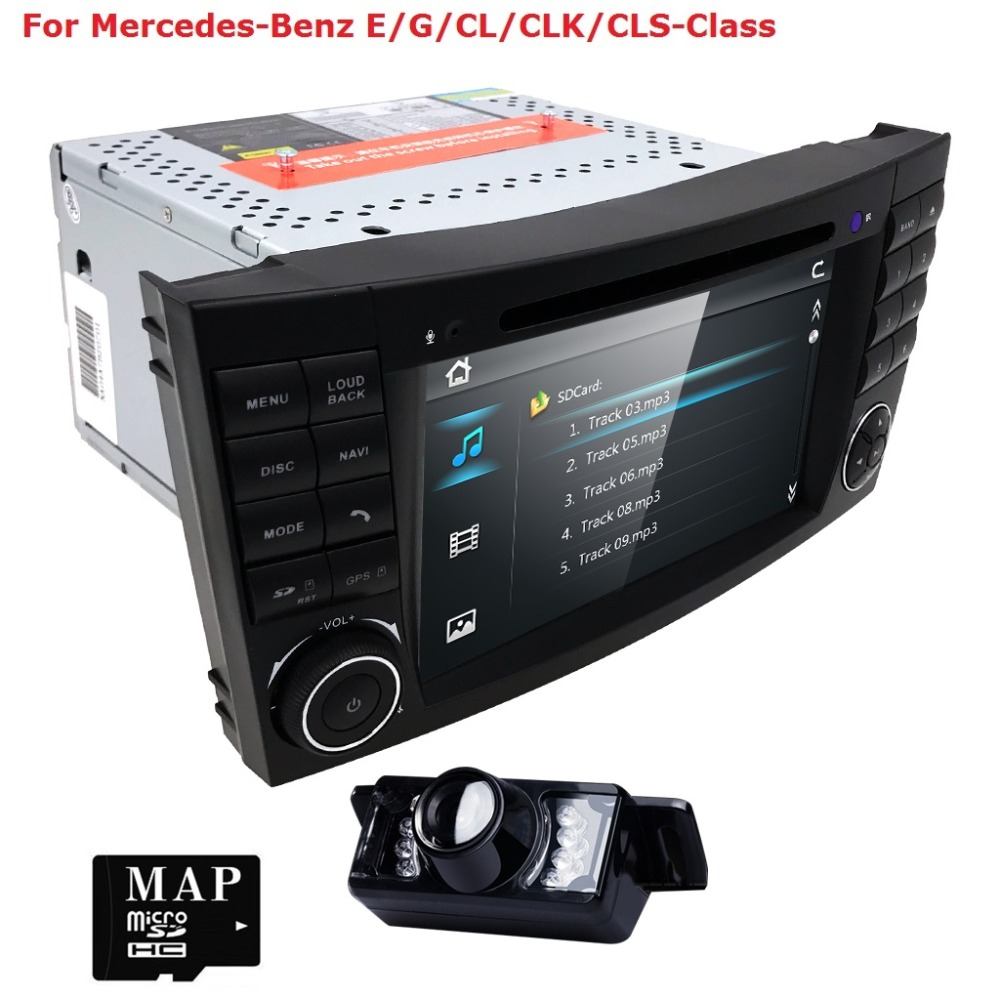 HD Screen 2din Car DVD Player for Mercedes/Benz w211 W209 W219 E320 E350 Radio Stereo GPS BT Steering wheel Rear Camera RDS iPod платье с принтом и шифоном adzhedo платья и сарафаны с принтом