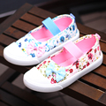Girls Canvas Shoes Spring Children Fashion Sneaker Rural Flower Shoes Kids Princess Soft Bottom Casual Shoes Breathable A035