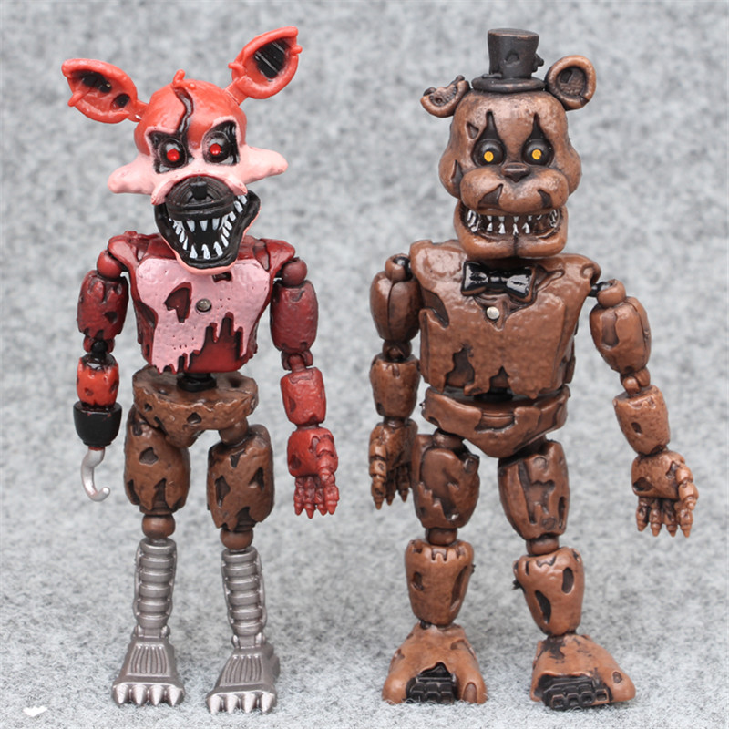 Image 2 - 6pcs/set At Freddy's Five Nights PVC Action figure 17cm Bonnie Foxy Freddy toys 5 Fazbear Bear Doll baby toys for Christmas gift-in Action & Toy Figures from Toys & Hobbies