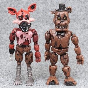 Image 2 - 6pcs/set At Freddys Five Nights PVC Action figure 17cm Bonnie Foxy Freddy toys 5 Fazbear Bear Doll baby toys for Christmas gift