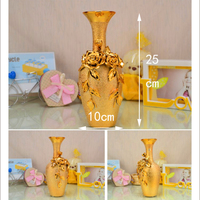 Exquisite golden ceramic vase Beautiful home Decoration vases
