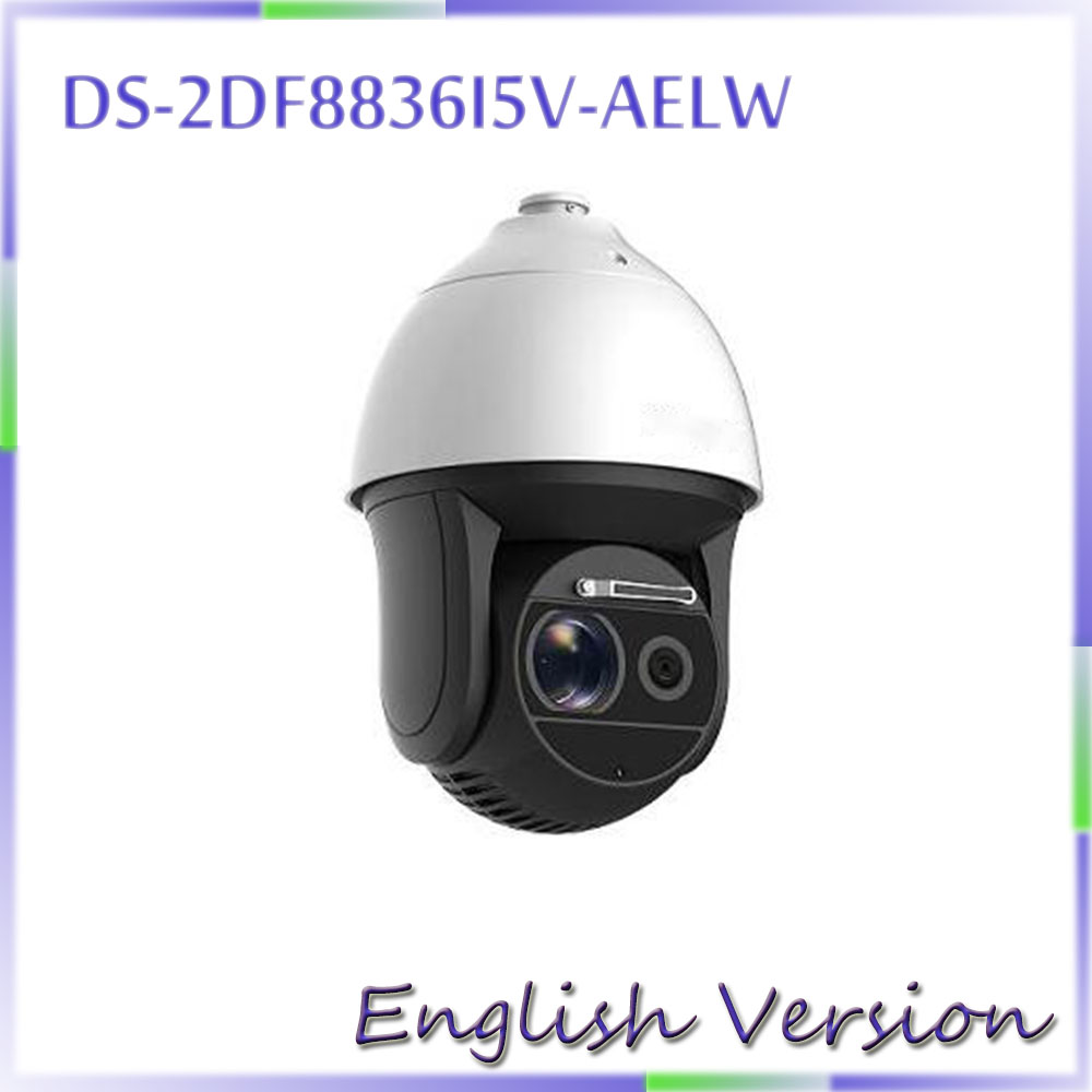 English version DS-2DF8836I5V-AELW 4K Laser Smart PTZ Camera 36X optical zoom wiper 200m IR POE 8mp 2017 new ds 2df8836iv aelw english version 4k smart ir ptz camera poe camera with wiper