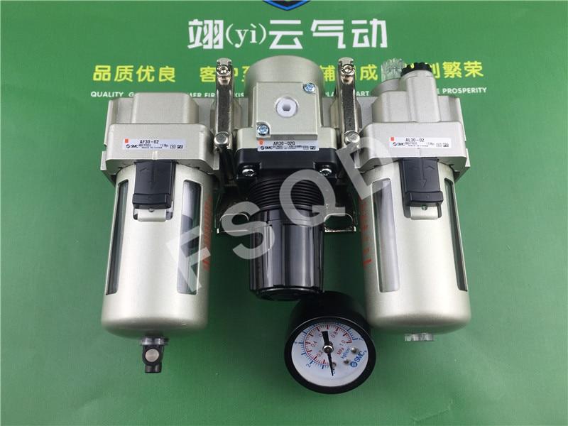 цена на AC30-02G SMC triplex air source filter pressure reducing valve oil mist separator Air source processing element