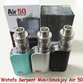 Newest100 % Cigarrillo Electrónico Smokjoy Aire 50 Tiny 50 W Caja Mod Wotofo Serpiente Mini Atomizador RTA Original 3 ml Ecigs vaporizador YY
