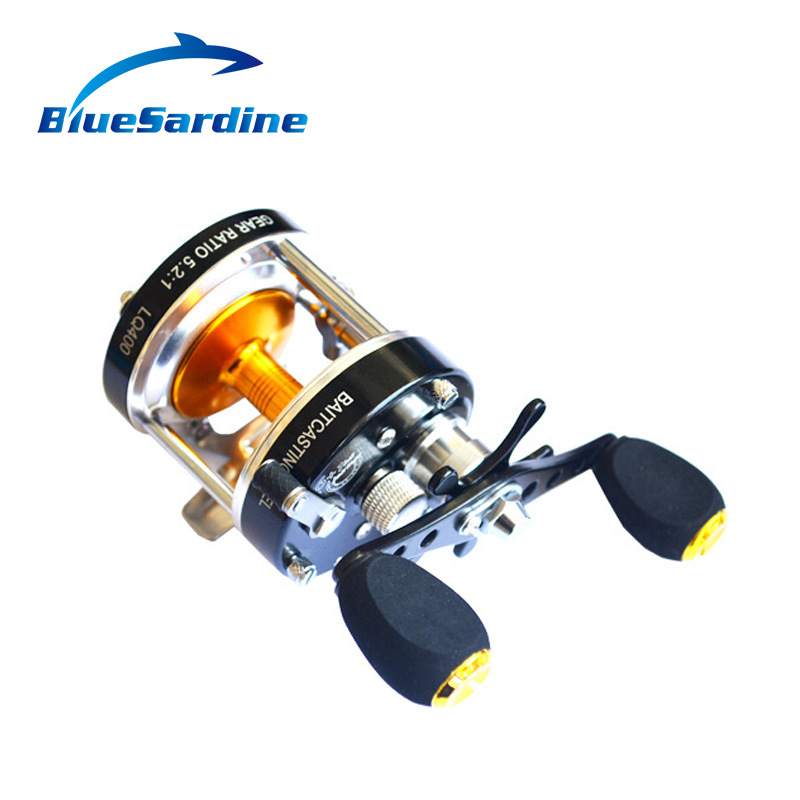 7+1BB 5.2:1 Metal Bait Casting Fishing Reel Cast Drum Wheel Sea Boat Saltwater Baitcasting Reel Trolling Gear Left Right right hand drum reel lure cast wheel bait casting reels boat fishing 12 1bb 2000 3000 4000 5000