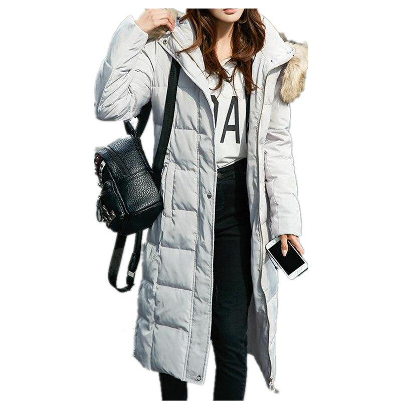 Fashio SnownWinter LargeFur Collar Com Capuz Engrossar Quente Jaqueta E  Casacos Feminino Inverno de Algodão Para Baixo Parkas Com Simples  PocketCQ023 005e3529fc32b