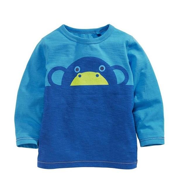 Niños Camiseta de Los Niños Camisetas Del Bebé Camisetas de la Marca de Los Niños Blusas de Manga Larga 100% Algodón Coches Camiones Rayas Envío Libre 2016
