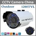 Lo nuevo 1200TVL Analógica de Alta Definición De Vigilancia CCTV Cámara de la Bala 6 unids Leds de Seguridad de Interior/Al Aire Libre IR 50 m IR Cámara de corte