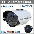 Mais recente de Alta Definição Analógica 1200TVL CCTV Câmera Da Bala 6 pcs Diodos Emissores de Luz de Segurança Vigilância Indoor/Outdoor IR 50 m IR-Câmara de corte