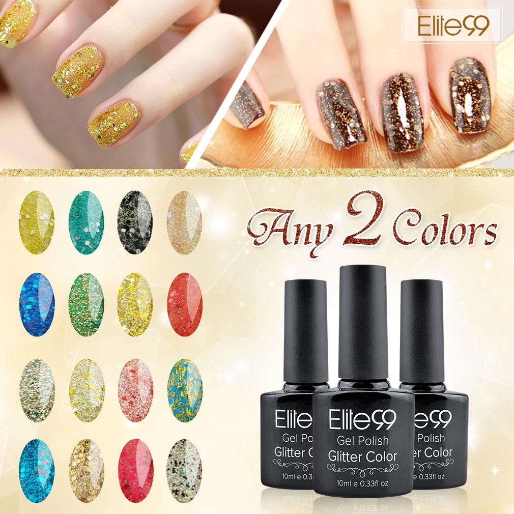 Elite99 2015 New Arrival Diamond Glitter uv gel nail polish Any 2 ...