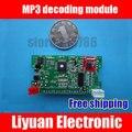 Decodificador bordo MP3/leitor de mp3 módulo decodificador bordo com display/rádio controle remoto cartão SD U disco