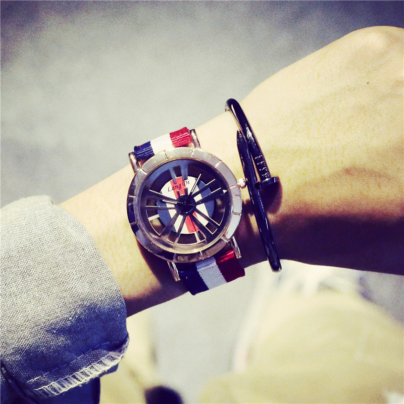 New Arrival D Famous Brand Style Hollow England Trend Nylon Sport Wristwatches Wrist Watch for Men