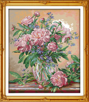 Beautiful Bluebells Vase Printed Canvas DMC Counted DIY Chinese Cross Stitch Kits Printed Cross Stitch Set