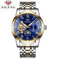 Relogio Masculino AILANG, мужские часы, Лидирующий бренд, Роскошные автоматические механические часы, мужские полностью стальные деловые водонепрониц...