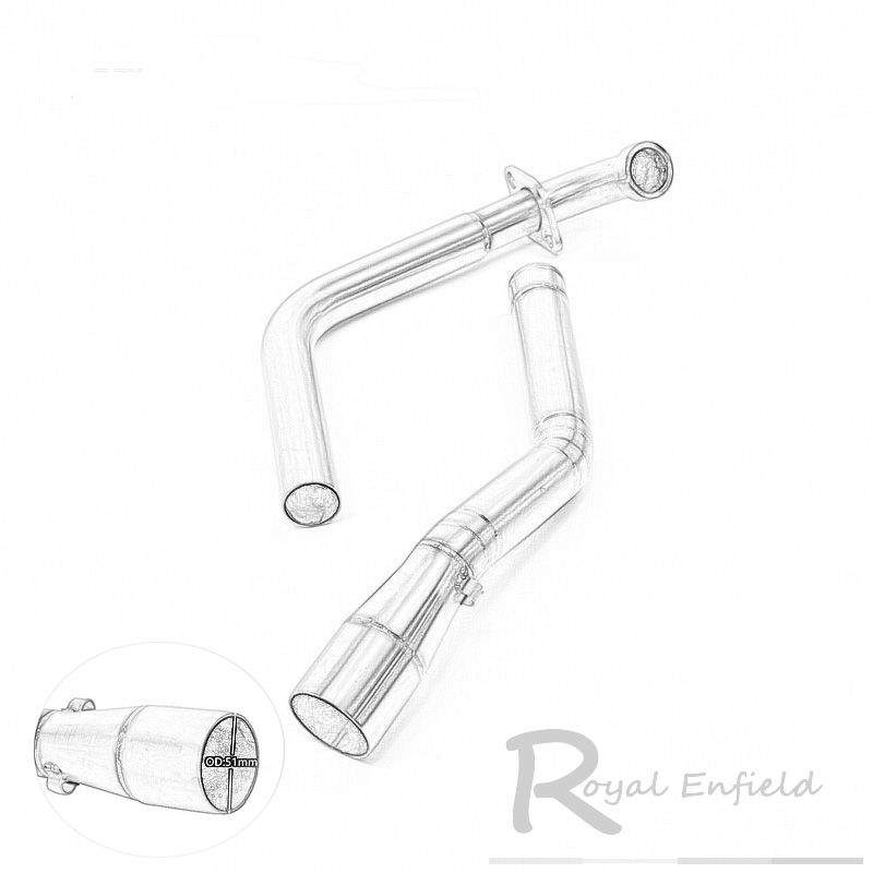 Stainess Steel Motorcycle Scooter Exhaust Middle Pipe Muffler Full