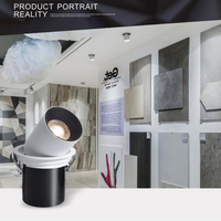 Led bulbs Surface Mounted Track Rail Mini Embedded COB LED Downlights 7W 10W 12W 360 degree rotation LED Ceiling Lamp Spot Light
