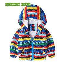 Boys and girls coat windbreaker wispring summer childrens wear graffiti full printed jacket