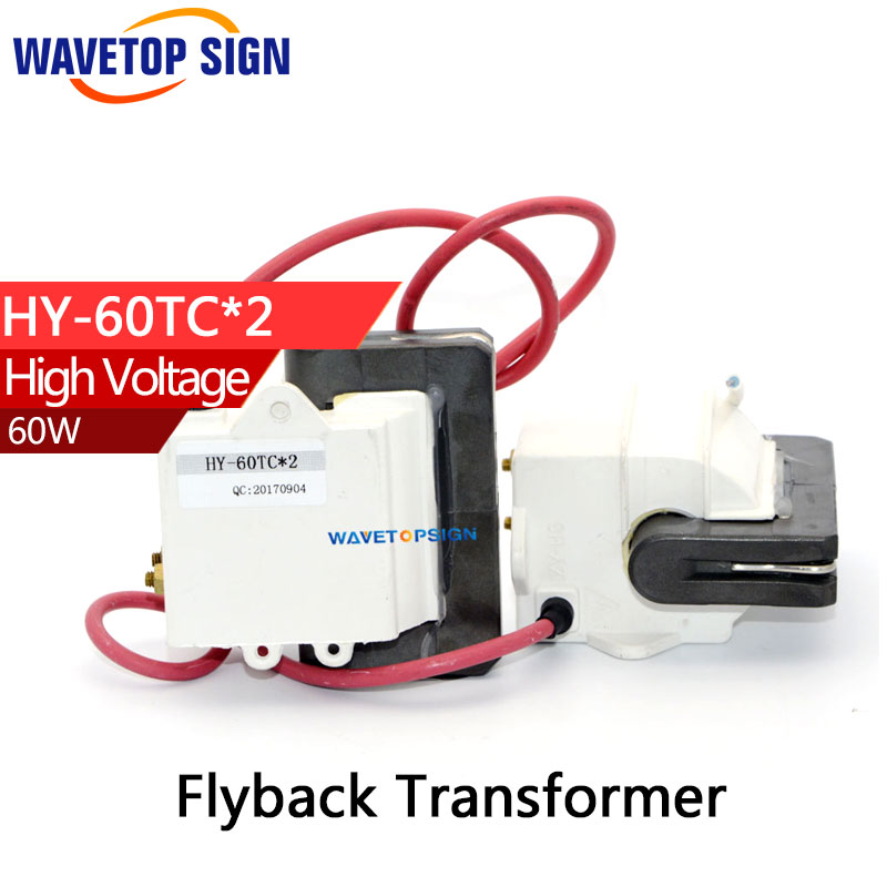 High Voltage Flyback Transformer use for  60W power supply  HY-60TC*2 use for 60W power supply Lgnition Coil  free shipping high voltage flyback transformer hy a 2 use for co2 laser power supply
