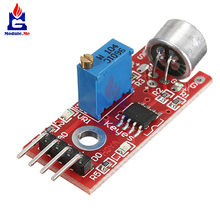 High Sensitive Microphone Sound Sensor Detection Power Supply Board For Arduino AVR PIC 5V DC Analog Output Module(China)