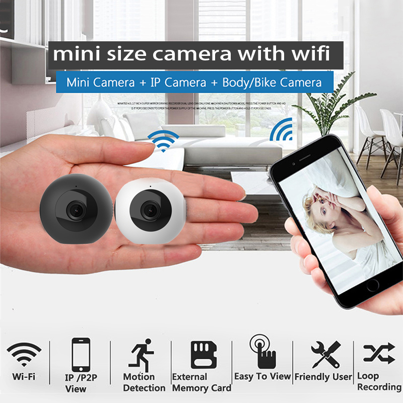 US $47 25 55% OFF|Mini Camera HD 720P Video Recorder Digital Sports wifi  p2p ip small Camera Night Vision Wide Angle Car camera Camcorder-in Mini