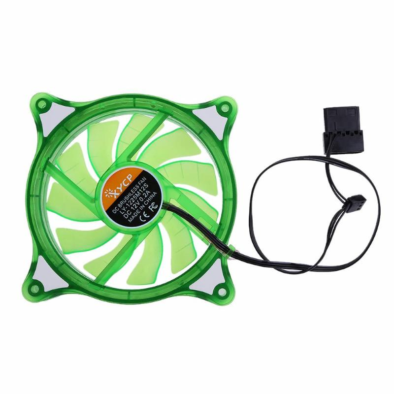 Desktop Mini Cooling Fan 12V LED Quiet RGB Mute Halo Ring Hydro Bearing Summer Cooler Fan for 120mm PC Computer Case CPU цена