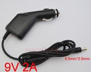 Image 1 - 1 pcs 고품질 자동차 충전기 9 v 2a 5.5mm x 2.5mm 9 v 알바 apvs8372b/apvs8372p 휴대용 dvd 9 v 자동차 전원 어댑터/충전기