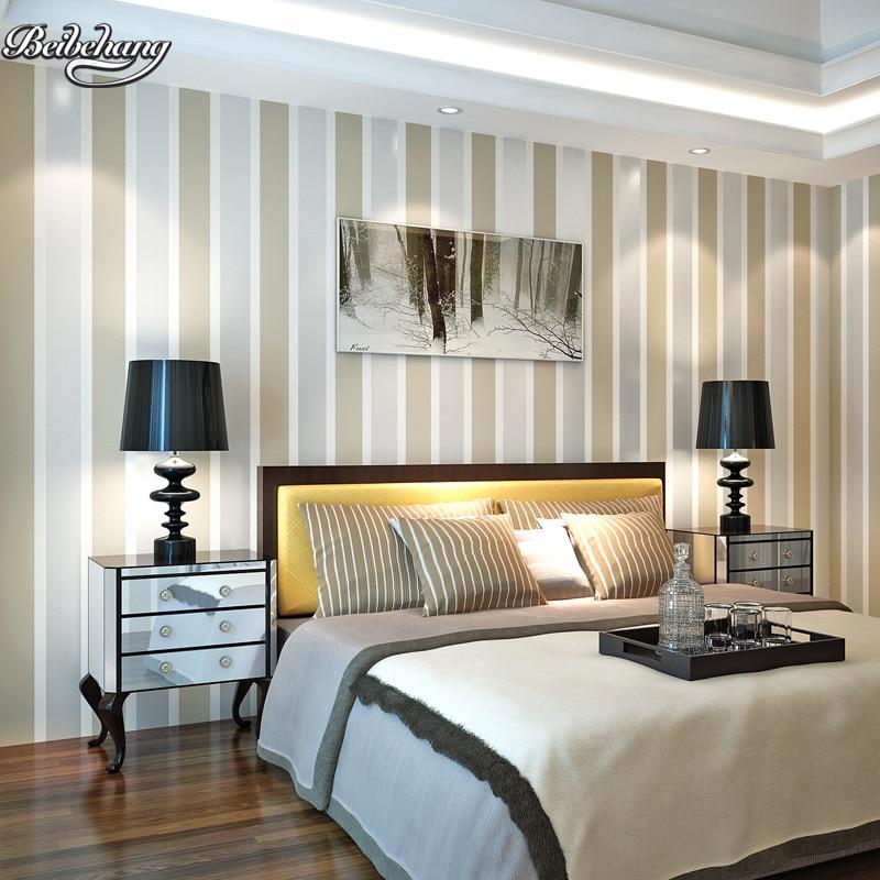 Papel tapiz de rayas simple beibehang l neas verticales - Papeles pintados rayas verticales ...