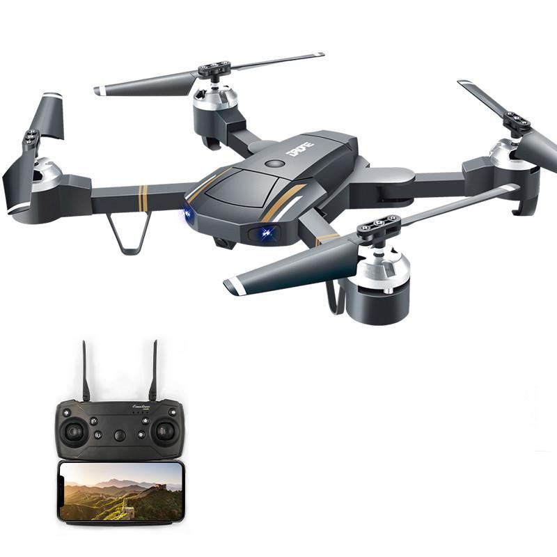 Offre spéciale WIFI FPV avec caméra grand Angle 640 P/720 P HD Mode de maintien élevé bras pliable RC quadrirotor RTF Drone VS X12 Eachine E58