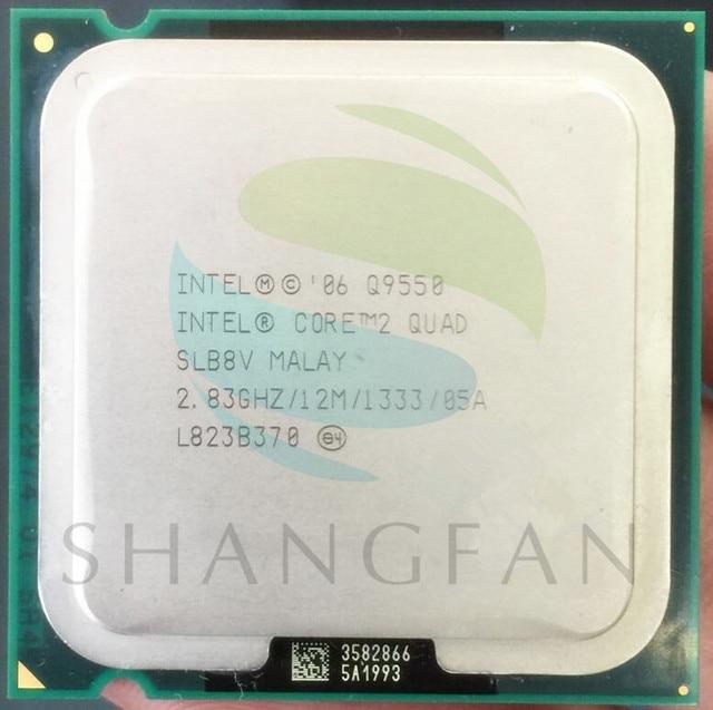 Free Shipping for Intel Core Q9550 SLB8V CPU processor Quad Core 2.8G 12MB LGA 775 processor