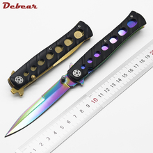 Dcbear High Performance Tactical Camping Folding Knives With 5CR15 Blade Steel Handle Knife Survival Hunting Tools EDC