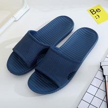 Мужчины полосой плоские тапочки Летние в полоску плоские тапочки летние сандалии крытый &ампер; открытый тапочки #Р4